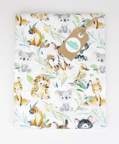 *PRE SALE* Fitted Cot Sheet ADD-ON to the Australian Animal Collection
