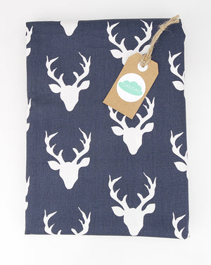 Fitted Cot Sheet ADD-ON to Navy & Mint Woodland Collection