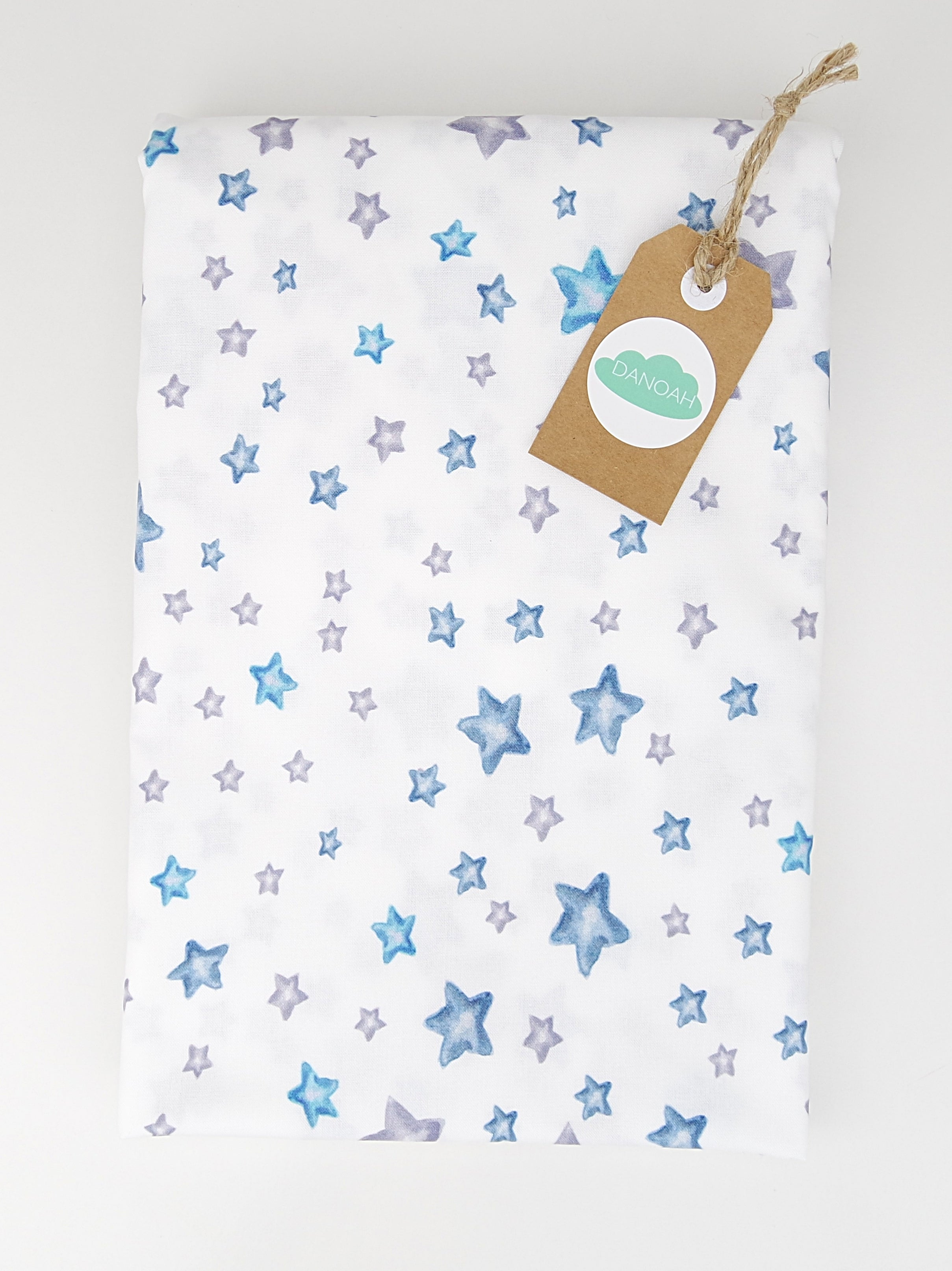 Fitted Cot Sheet ADD-ON to Blue Crown Elephant Collection