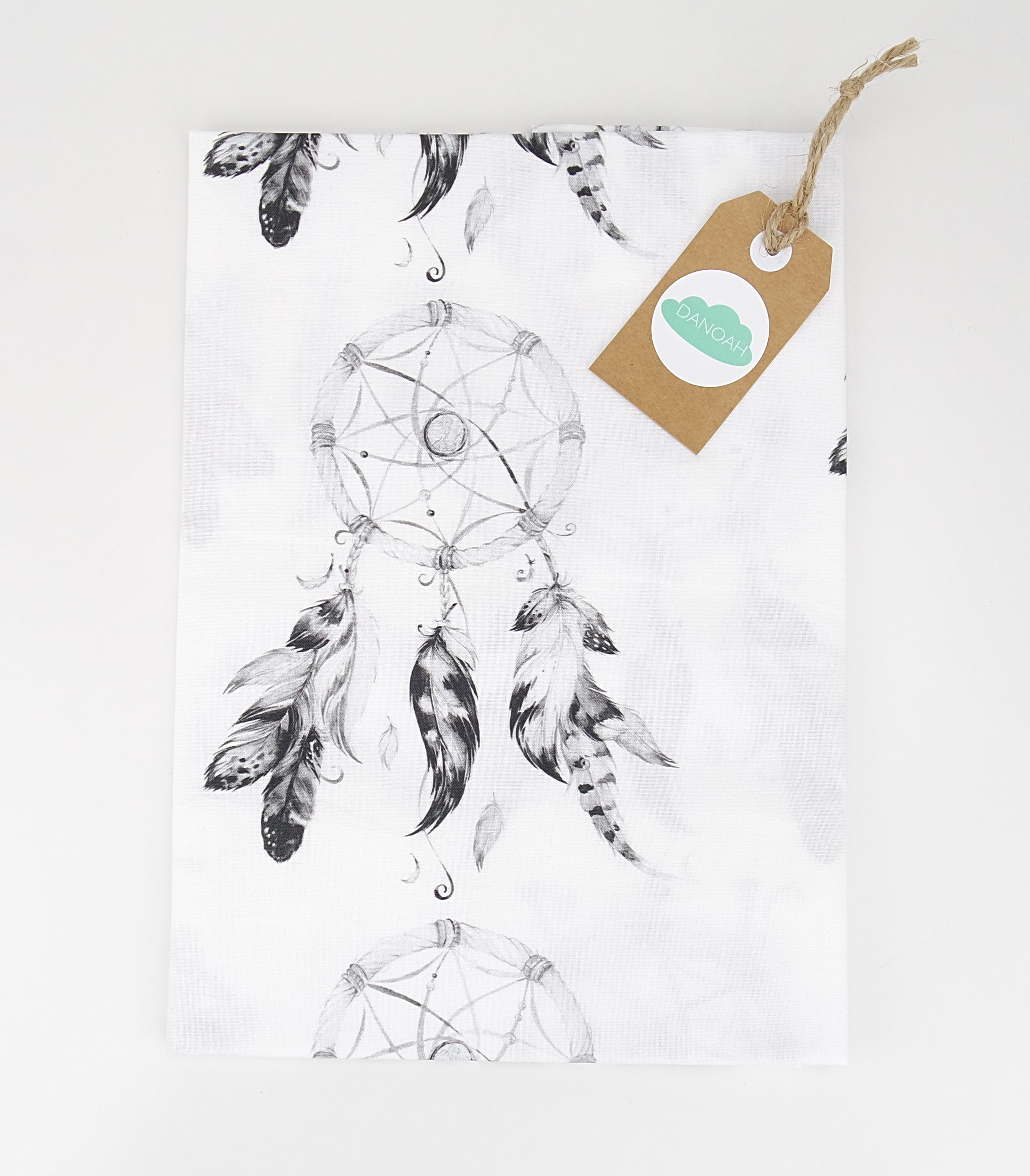Fitted Cot Sheet ADD-ON to Black Dreamcatcher Collection
