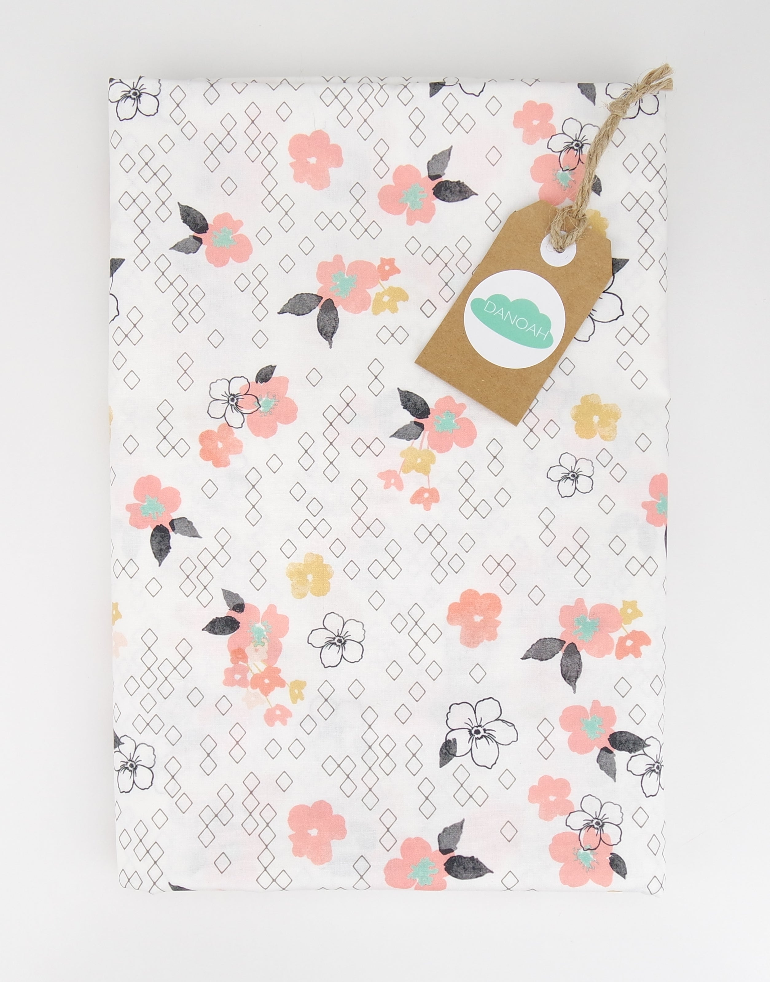 Fitted Cot Sheet ADD-ON to the Pink Deer Head Collection