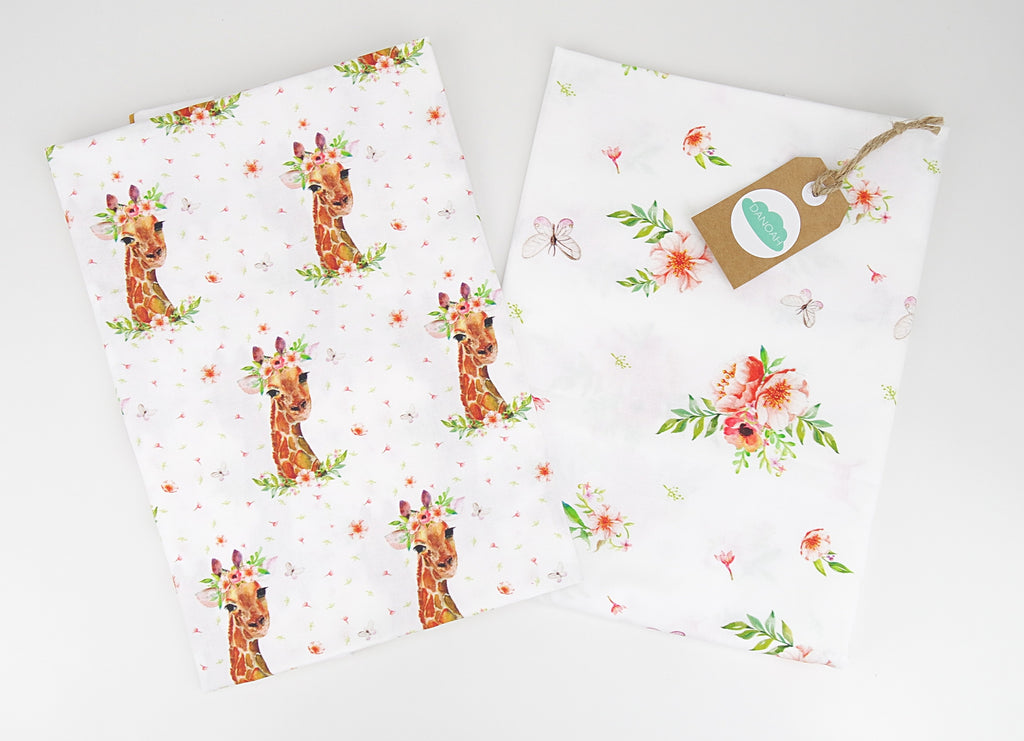 Fitted Cot Sheet ADD-ON to Girl Giraffe Collection