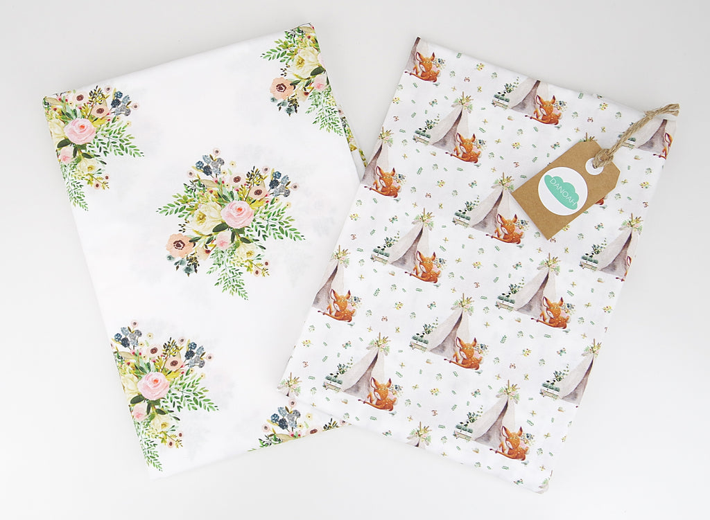 Fitted Cot Sheet ADD-ON to Boho Deer Collection