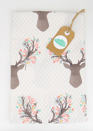 Change Table Cover -Pink Deer Head
