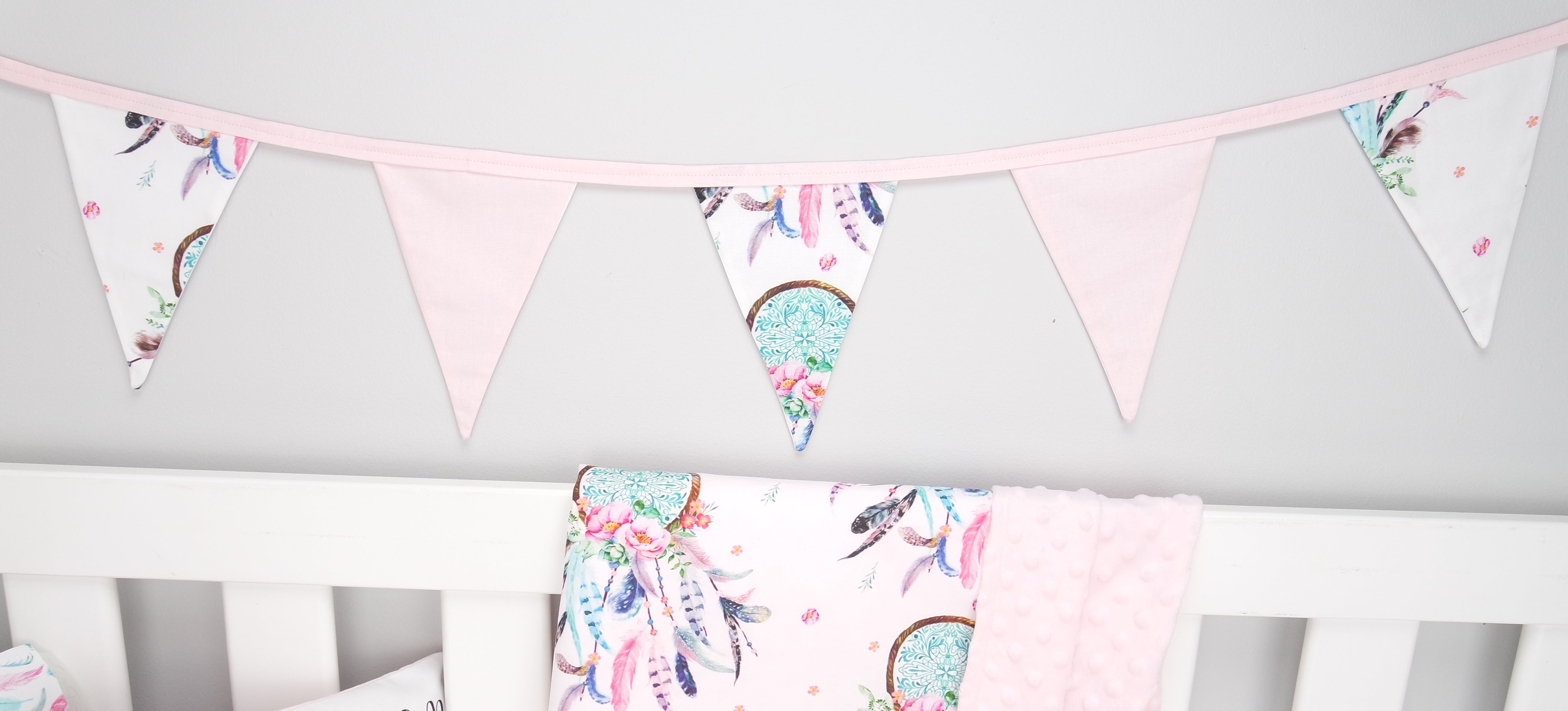 Pink Dreamcatcher Bunting Flags