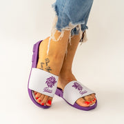 Dabati Purple Slides Unisex Slippers