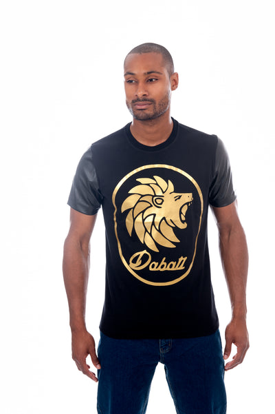 Dabati Foundation leather sleeves T shirt