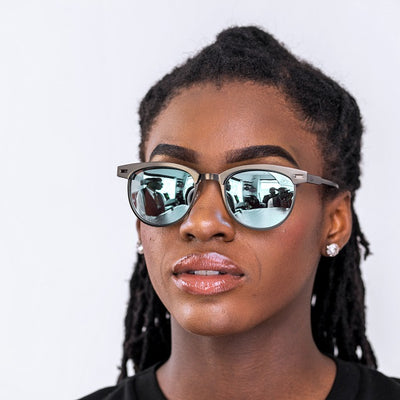Dabati Blue Green Reflector Glasses