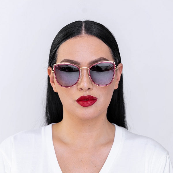 Dabati  Studded Wine Cat eye Glasses