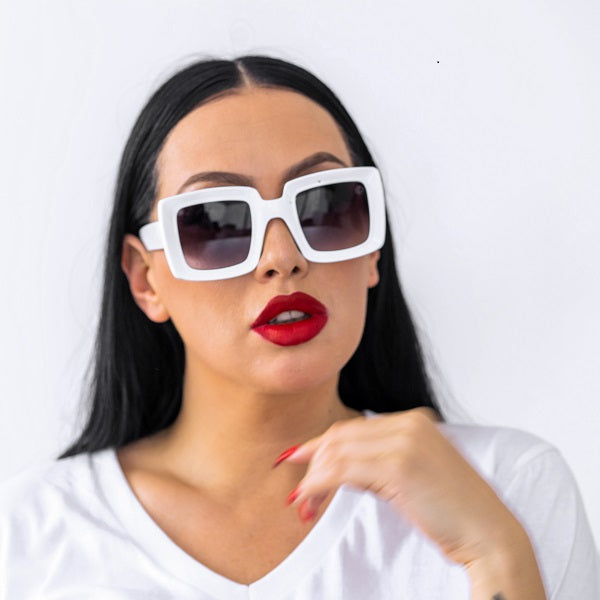 Dabati White Square Glasses - Dabati London