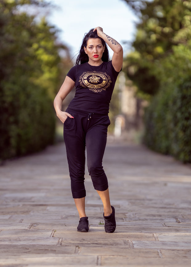 Black Dabati London Lagos Fitted T shirt - Dabati London