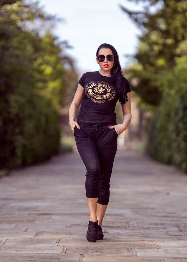 Black Dabati London Lagos Fitted T shirt