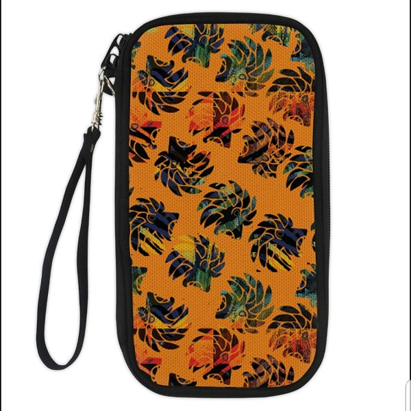 Dabati Men Orange Patterned Bag