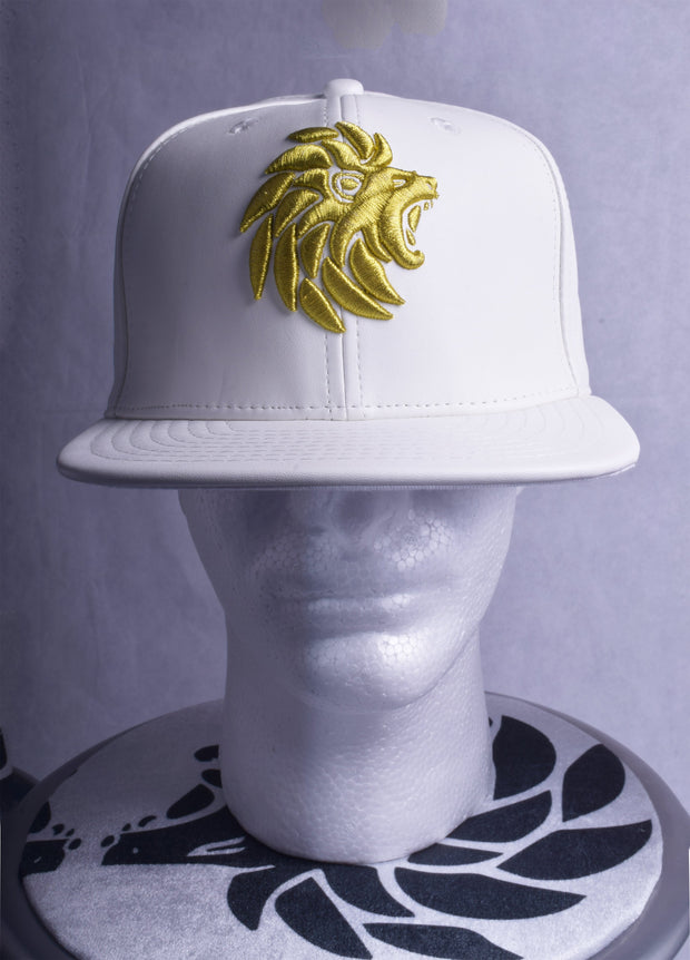 Dabati White Leather Cap