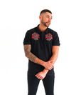 Dabati Black Double Emblem Polo Shirt