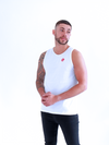 Dabati Mens White Tank Top