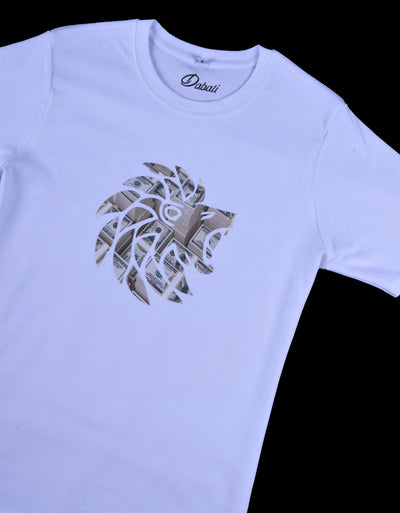 White Dabati Dollar Bill Fitted T shirt