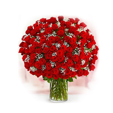 100pcs Red Roses