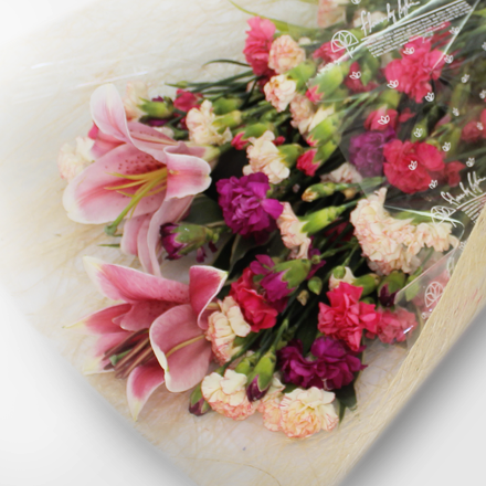 Bouquet of Stargazers with assorted Carnation