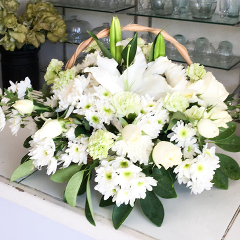 Funeral Arrangement on a basket