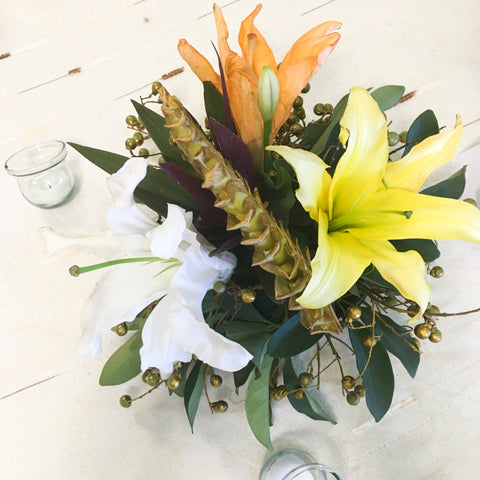 Lilies Center Piece