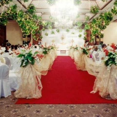 Wedding ballroom arrangement at polo club