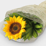 Bouquet of one sunflower