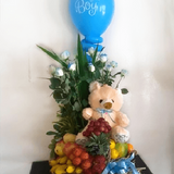 Gender reveal fruit basket