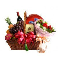 Wine and Roses with Fruits