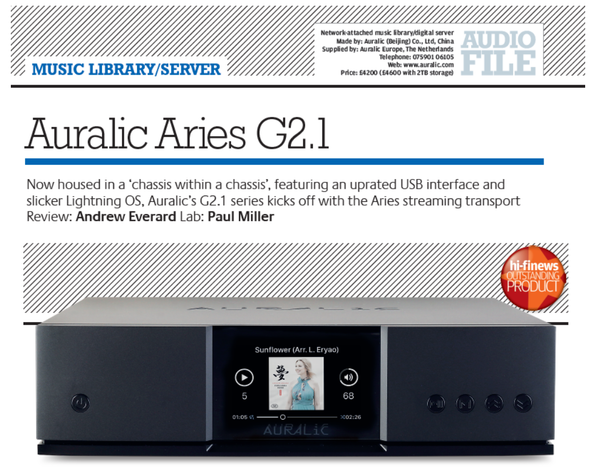 ARIES G2.1 Review by HiFi-News UK