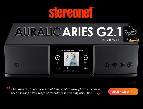 StereoNet Reviews the Aries G2.1 wireless streaming transport