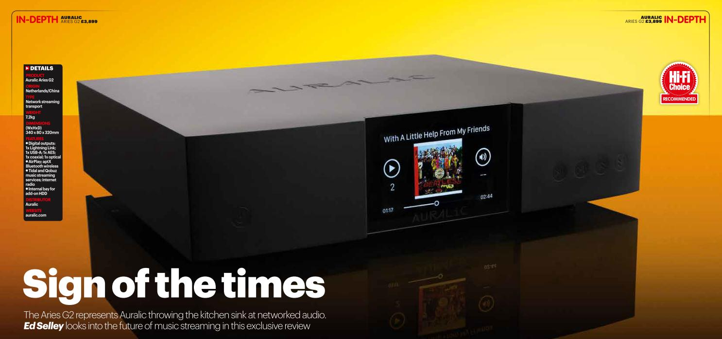 Sign of the Times - AURALiC ARIES G2 Review from HiFi Choice