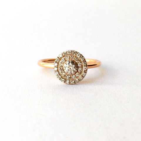 Diamond Disk Ring