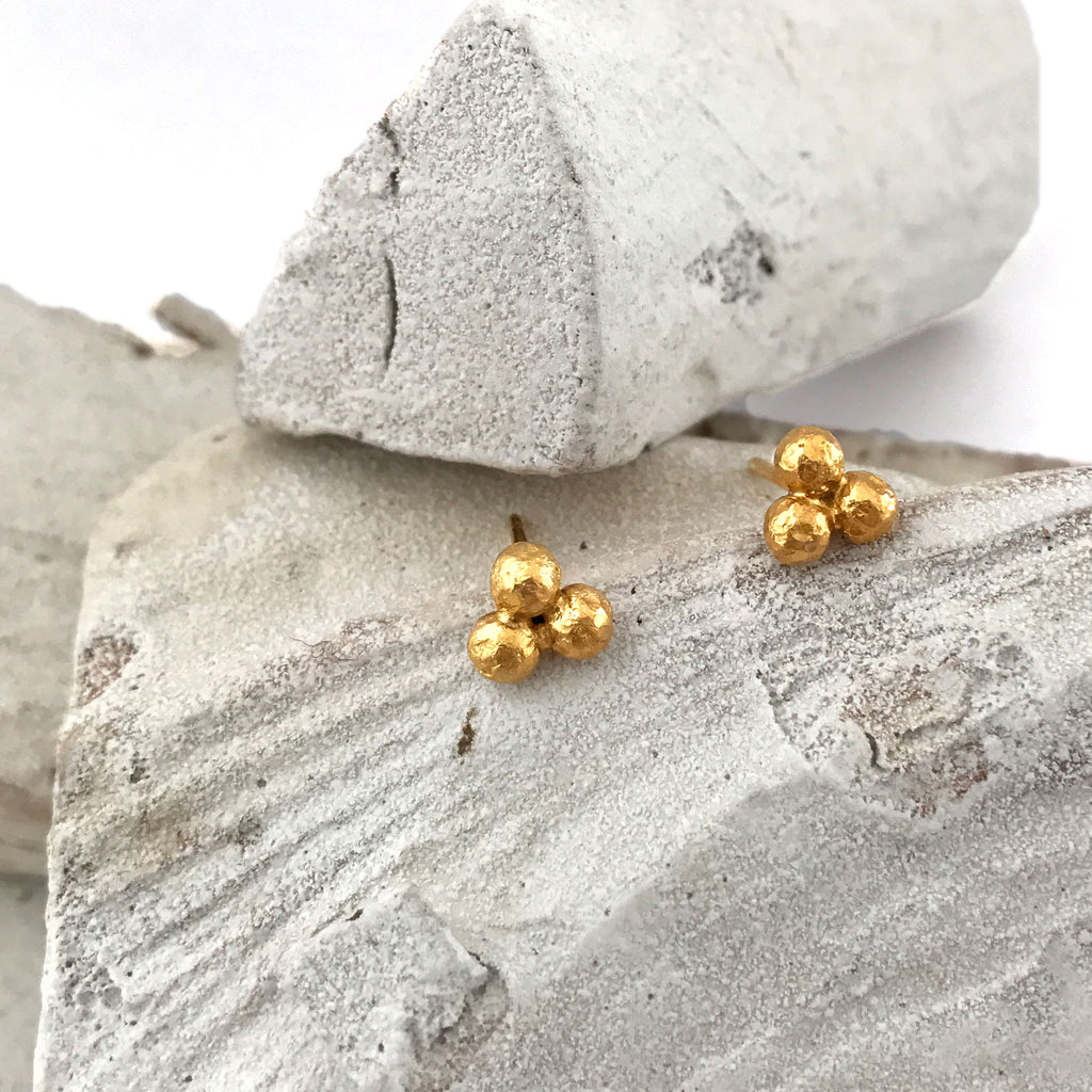 Flower Gold Nuggets Earrings