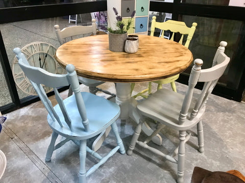 🌈 Colour me Happy 4 Seater Dining Set 🌈