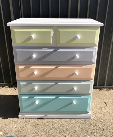 6 Drawer Tall Boy - Perfect for a Nursery 👶🏼