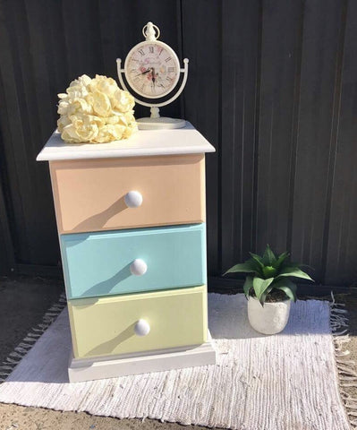 Colourful Bedside Table, perfect for a Nursery or Girls Room