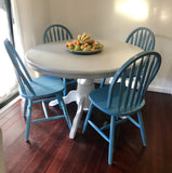 Coastal 5 Piece Solid Wood Dining Set.