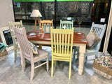 Boho Dream 🌷 6 Seater Solid Wood Dining Set