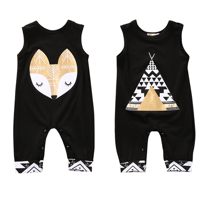 Trendy Sleeveless Newborn Jumpsuits - Cuddle Bandits