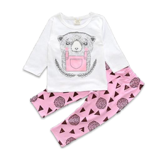 Cute Pink Bear Baby Girl Set - Cuddle Bandits