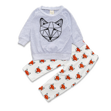 Geometric Fox Baby Unisex Set - Cuddle Bandits