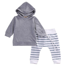 Hoodie With Stripy Pants Set - Cuddle Bandits