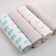 Flannel Baby Blanket (4pcs/pack) - Cuddle Bandits