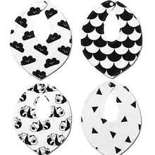 Newborn Funky Bibs (Pack of 4) - Cuddle Bandits