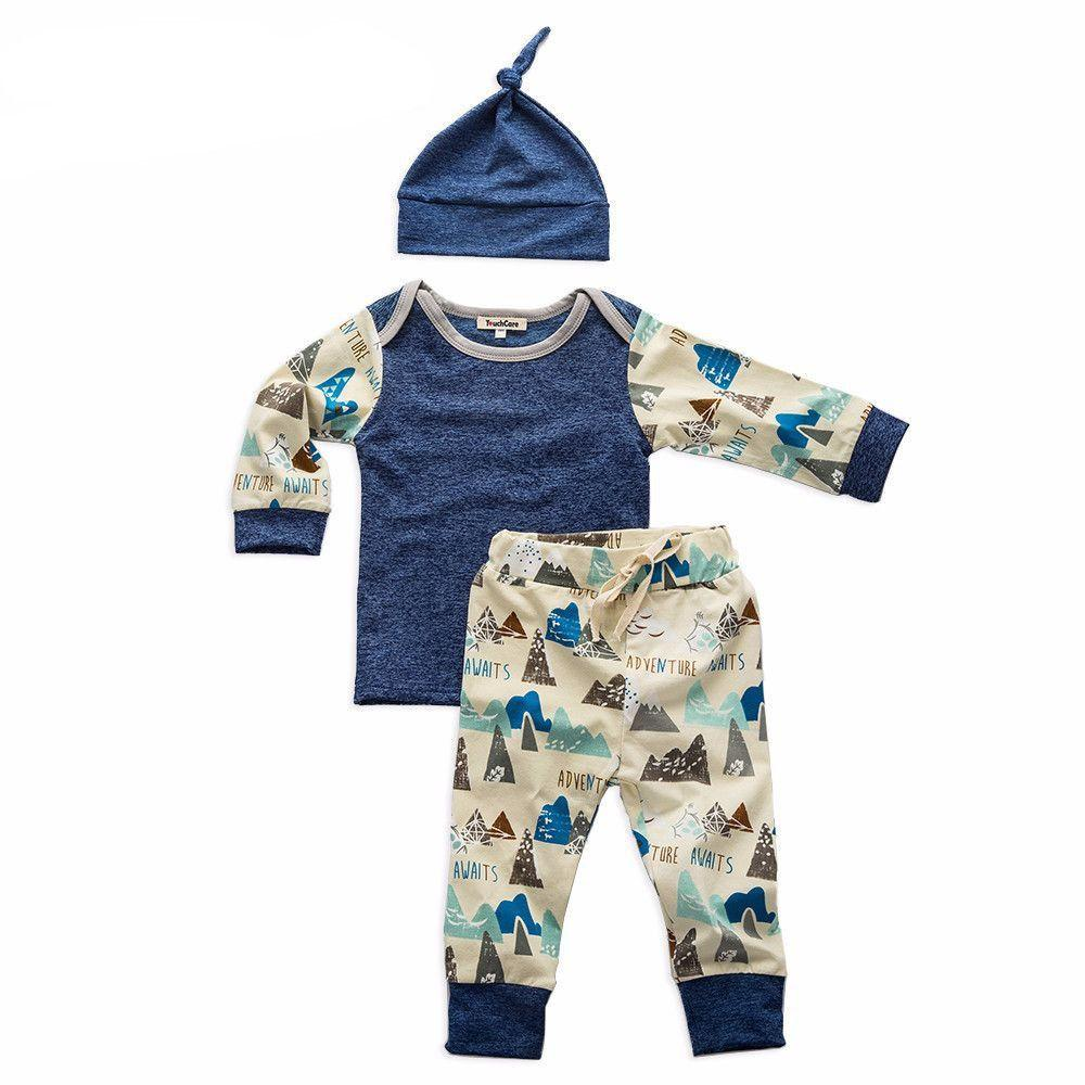 Printed Denim Colour 3 Piece Set - Cuddle Bandits