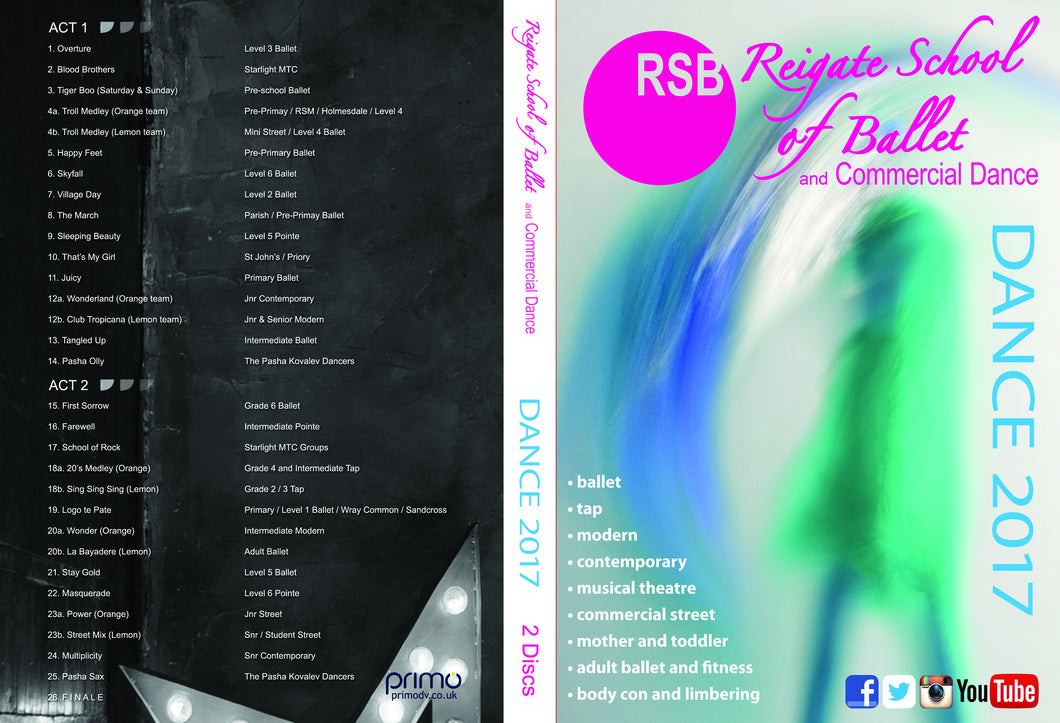 Reigate School of Ballet - Dance 2017 DVD