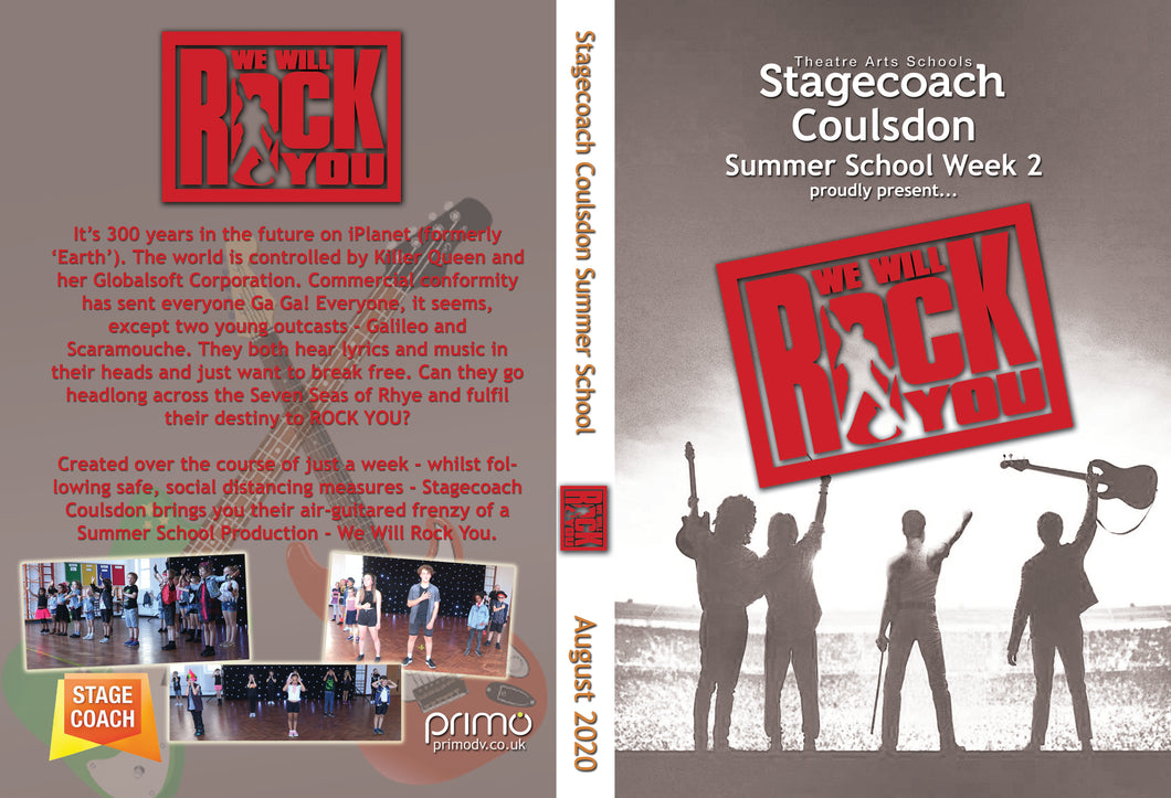 Digital Copy of Stagecoach Coulsdon Summer Holiday Workshop 2020 - We Will Rock You