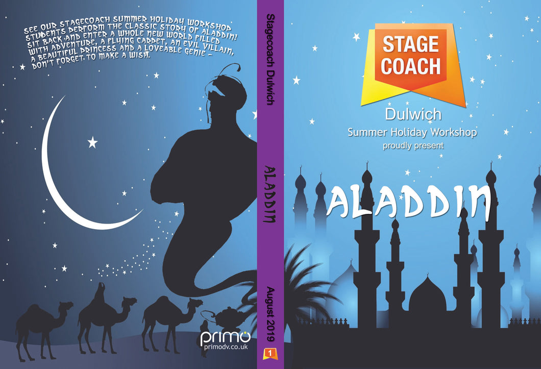 Digital Copy of Aladdin - Stagecoach Dulwich Summer Holiday Workshop 2019 - 16th August (Early Stages)