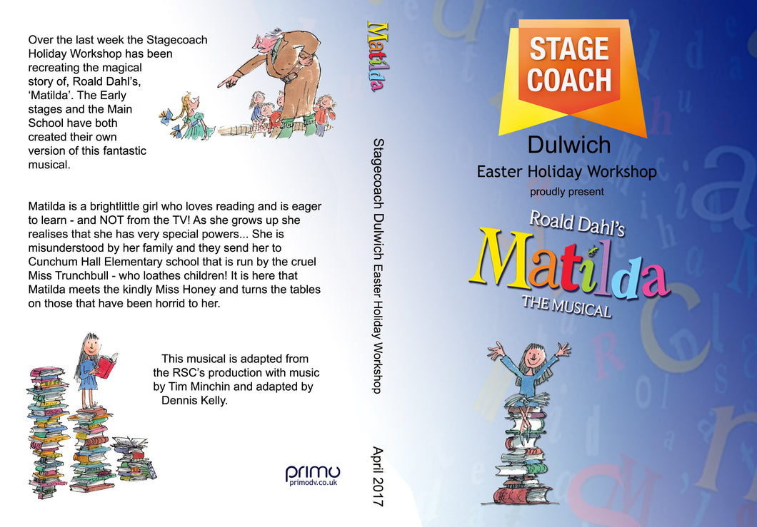 Matilda - Stagecoach Dulwich Easter Holiday Workshop (incl. P&P)
